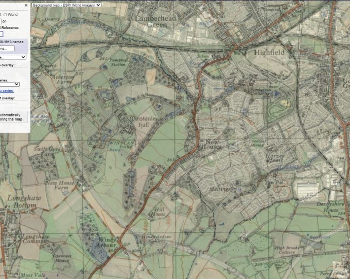Winstanley Map Then and Now