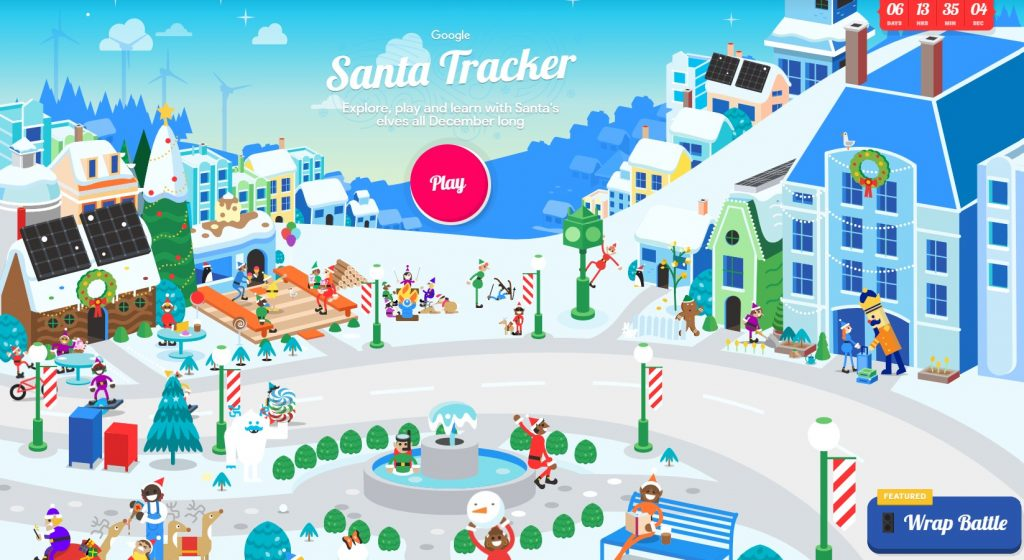 Track Santa from Winstanley with Google