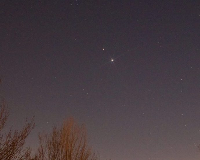 Christmas Star Over Winstanley