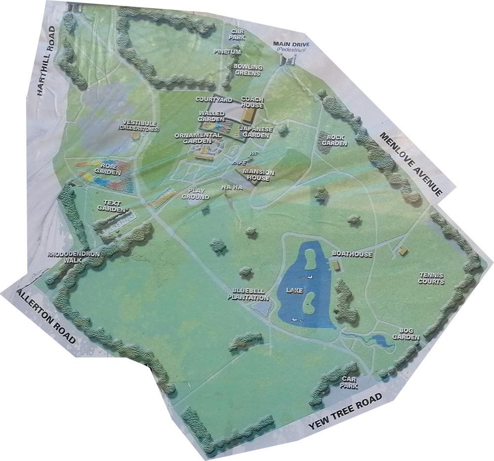 Calderstones and Reynolds Parks Woolton Map