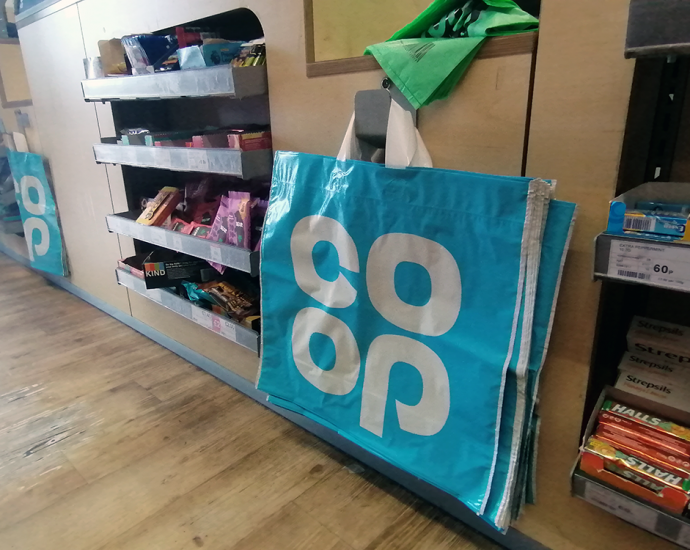Coop binning bags for life